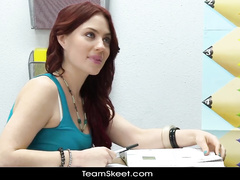 Naughty students got on teacher's desk and fucking hot