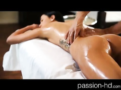 Horny massage ends up with hard fuck