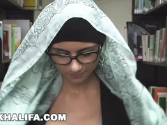 Attractive sexy Muslim girl Mia Khalifa hotly undresses and shows off nude