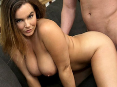 Chubby plump babe got passionately fucked by stepbrother